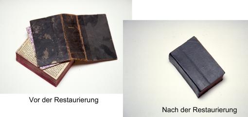 Restaurierung eines Buches