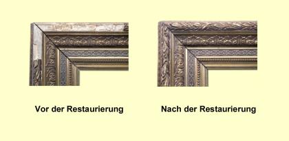 Restaurierung antiker Rahmen